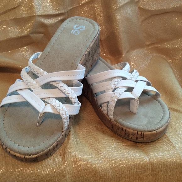 Kohls White Wedge Sandals | Poshmark